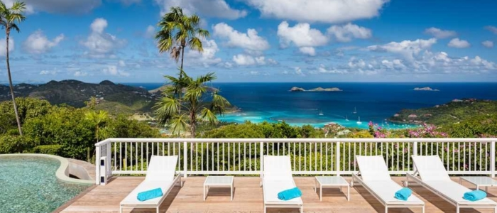 sun chairs, deck, outdoor, view, st barths