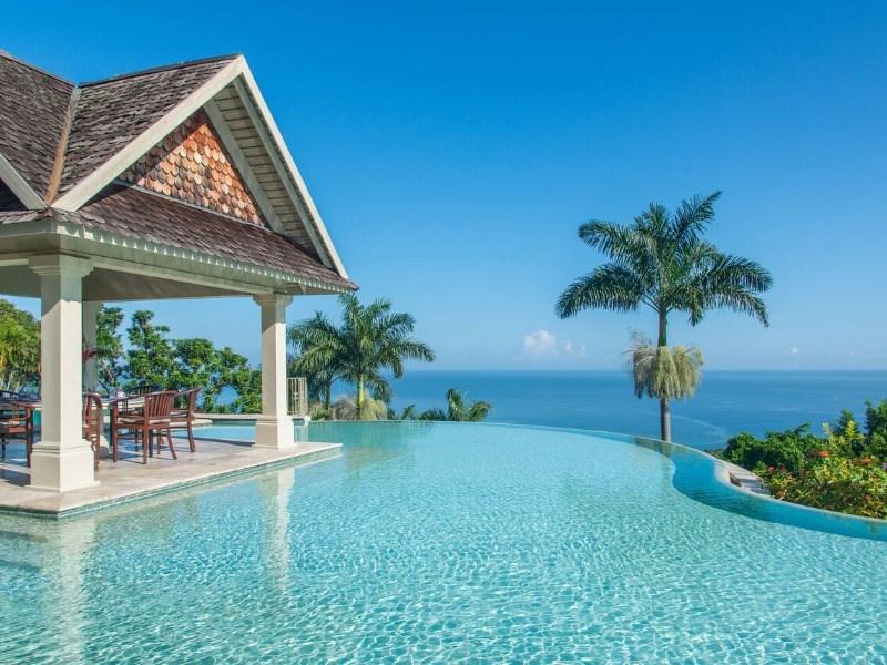 infinity pool paradise montego bay jamaica