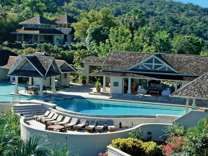 aerial pool view montego bay jamaica paradise