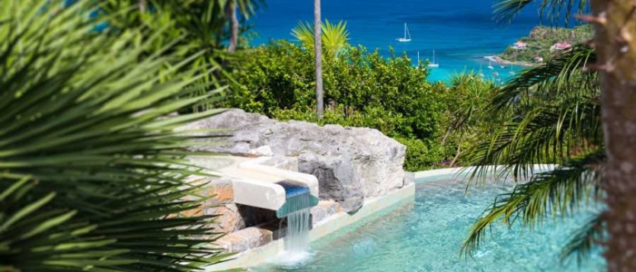 pool, outoor, oasis, paradise, st barts, st barthelemy