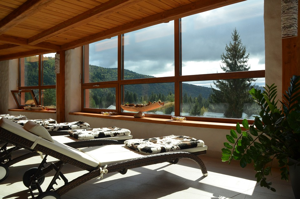 wellness spa mountain relax rejuvenate refresh home