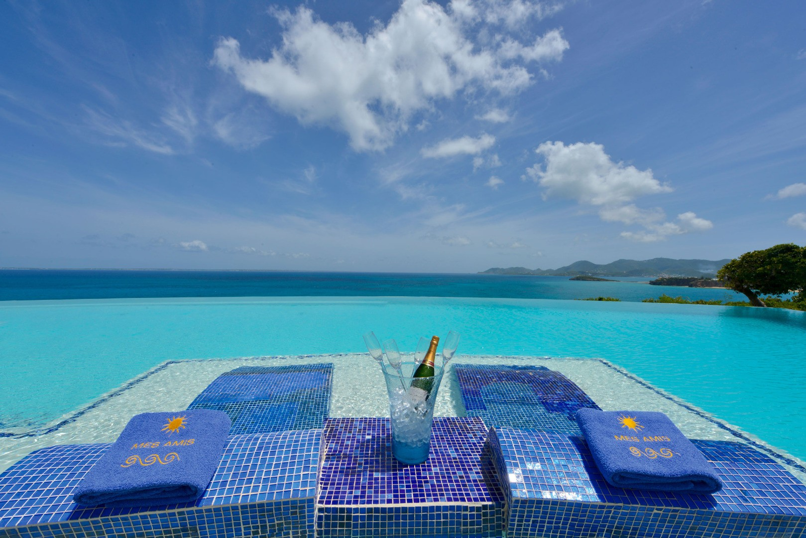 pool, outdoor, paradise, saint maarten, tropical