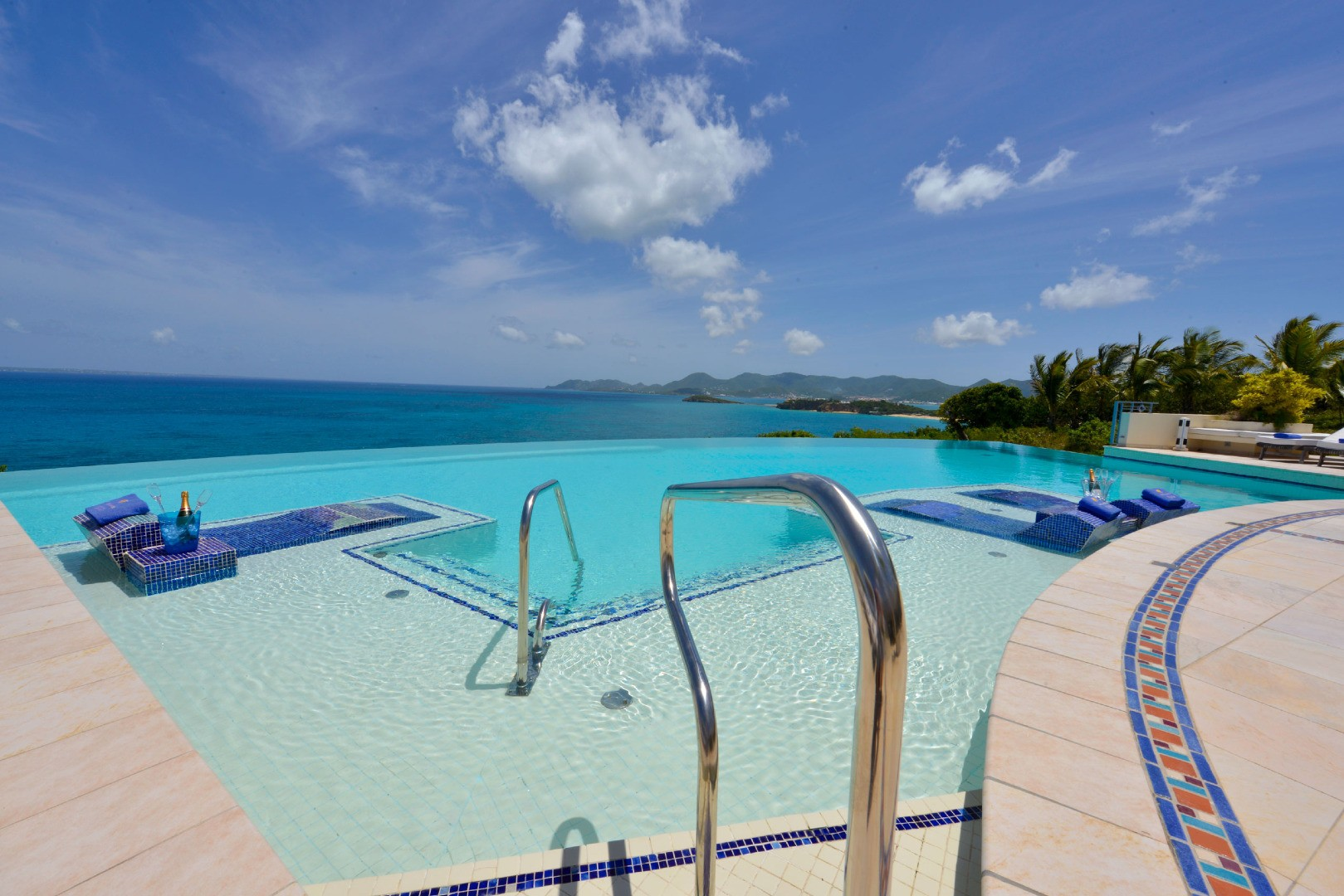luxury pool outdoor turquoise paradise st martin
