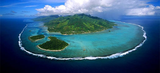 island, fiji, tropical, aerial view
