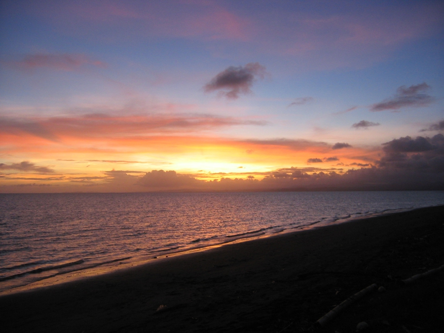 beach, fiji, sunset, view, water