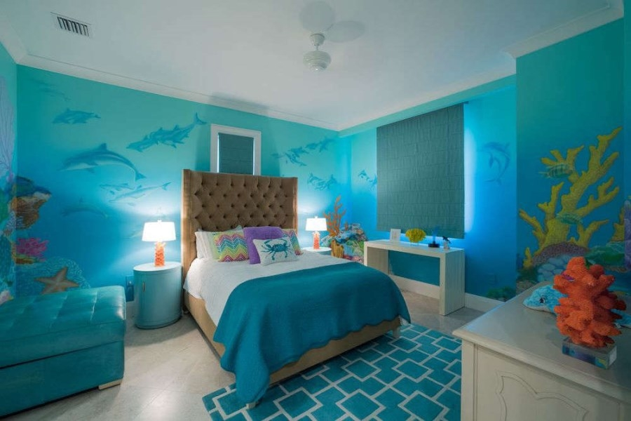 turquoise kids bedroom
