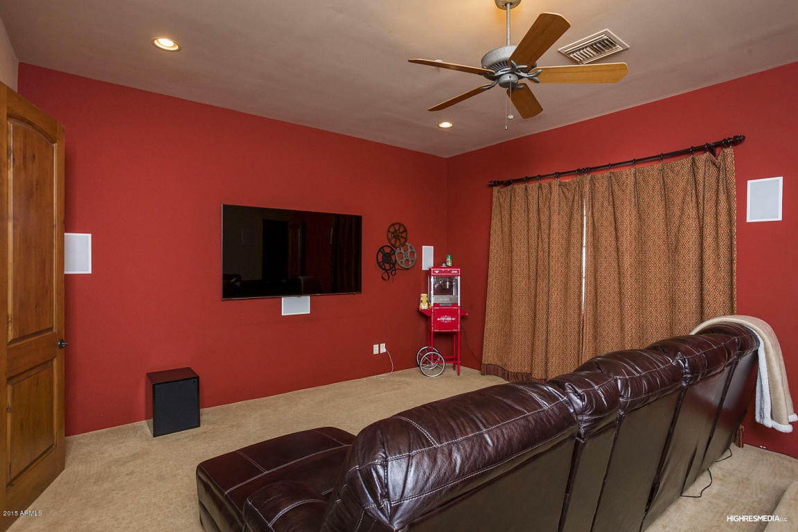 theater with red walls
