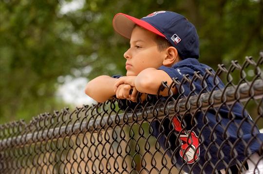 little boy cleveland baseball uniform