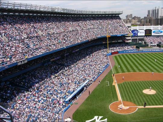 packed baseball field