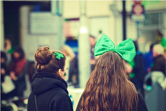 girls dressed for st patrick's day party