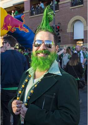 st patrick's day party person