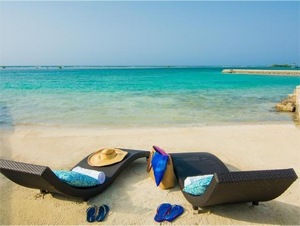 beach loungers in jamaica