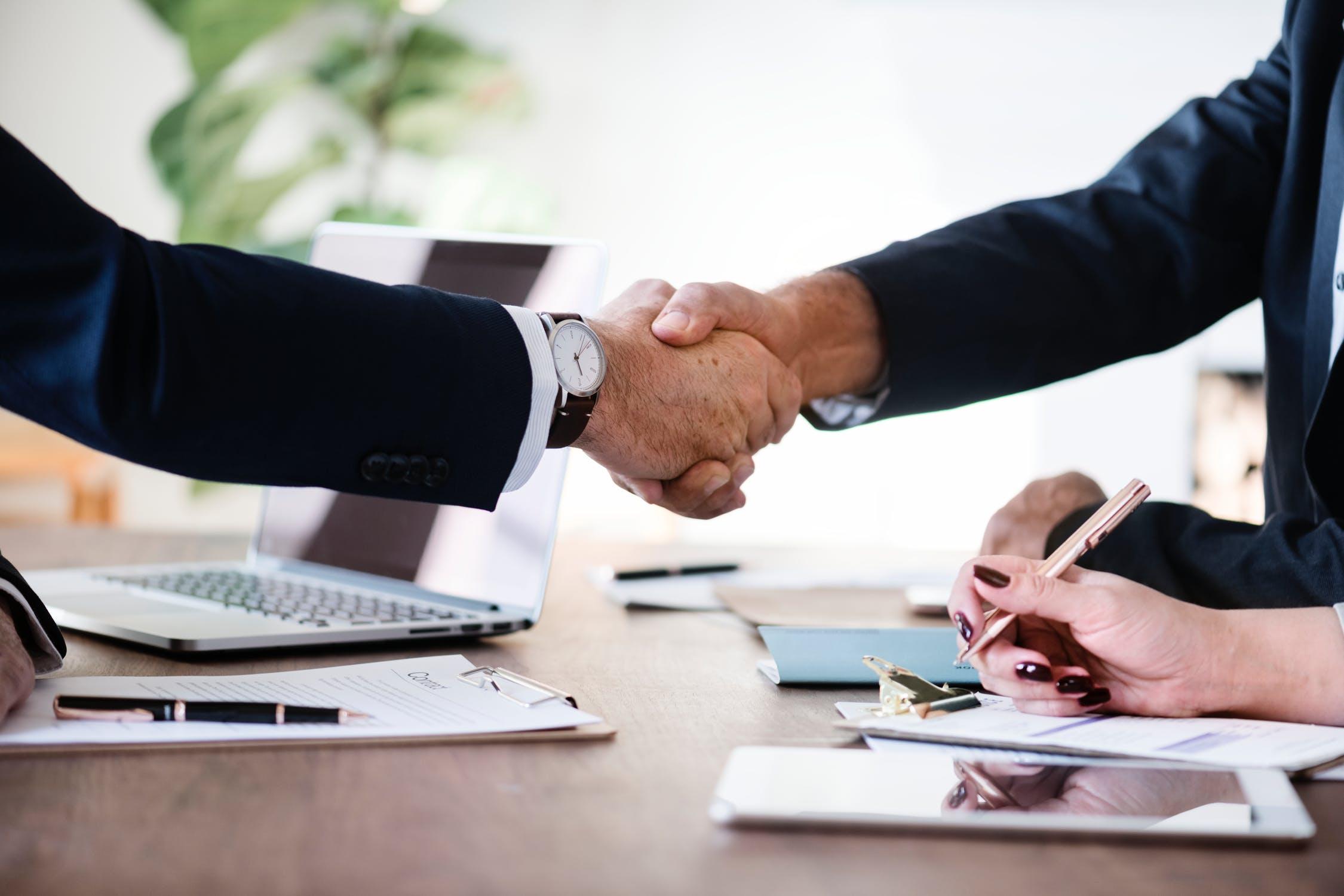 handshake sign busines
