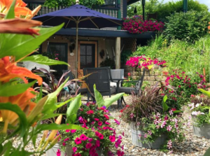 Patio with Flowers- Lyndon VT