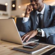 real estate agent laptop listing