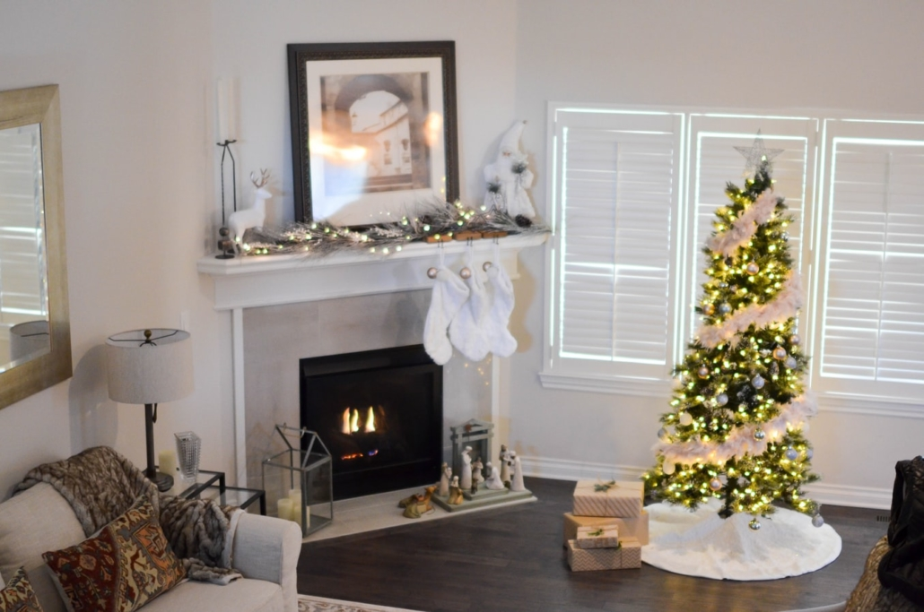 home staged for holidays